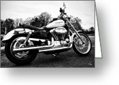 Biker Greeting Cards - Harley Davidson Greeting Card by Bill Cannon