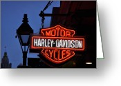 Cycles Digital Art Greeting Cards - Harley Davidson New Orleans Greeting Card by Bill Cannon