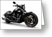 Motorcycle Photo Greeting Cards - Harley Davidson VRSCD Night Rod Special  Greeting Card by Oleksiy Maksymenko