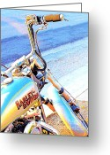 Motorbike Greeting Cards - Harley-Davidson Greeting Card by Wingsdomain Art and Photography