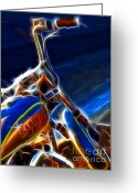 Motorbike Greeting Cards - Harley Electrified Greeting Card by Wingsdomain Art and Photography