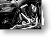 V Twin Greeting Cards - Harley Greeting Card by Michelle Calkins
