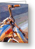 Made In The Usa Digital Art Greeting Cards - Harley Greeting Card by Wingsdomain Art and Photography