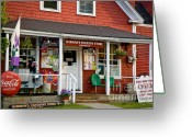 Grafton County Greeting Cards - Harmans in Sugar Hill Greeting Card by Susan Cole Kelly