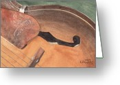 Acoustic Guitar Greeting Cards - Harmony Greeting Card by Ken Powers