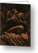 Black Art Greeting Cards - Harmony Greeting Card by Richard Young