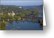 Shenandoah Greeting Cards - Harpers Ferry West Virginia From Above Greeting Card by Brendan Reals
