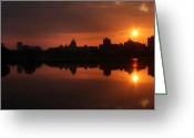 Harrisburg Greeting Cards - Harrisburg Skyline - Panorama Greeting Card by Lori Deiter