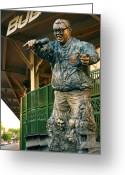 Chicago Landmarks Greeting Cards - Harry Caray Greeting Card by Anthony Citro