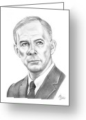 Most Greeting Cards - Harry Morgan Greeting Card by Murphy Elliott
