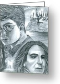 Deathly Hallows Greeting Cards - Harry Potter Greeting Card by Crystal Rosene
