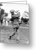 Playing Golf Greeting Cards - Harry Vardon - Golfer Greeting Card by International  Images