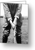 Playing Golf Greeting Cards - Harry Vardon displays his overlap grip Greeting Card by International  Images
