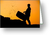 Fine_art Greeting Cards - Harvest - 4 Greeting Card by Okan YILMAZ