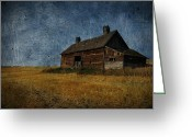 Rural Decay Prints Greeting Cards - Harvest Time Greeting Card by Larysa Luciw