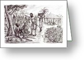 Workers Drawings Greeting Cards - Harvest Time  Greeting Card by Wale Adeoye