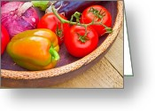 Selection Greeting Cards - Harvest vegetables Greeting Card by Tom Gowanlock