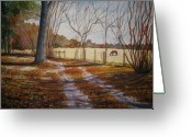 Low Country Greeting Cards - Harwell Farm Greeting Card by Shirley Braithwaite Hunt