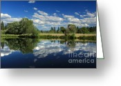 Lassen Greeting Cards - Hat Creek Reflections Greeting Card by James Eddy