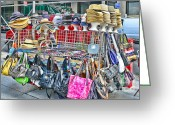 Street Vendor Greeting Cards - Hats and Handbags Greeting Card by Paul Ward