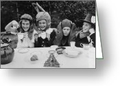 Spout Photo Greeting Cards - Hatter Party Greeting Card by Fred Morley