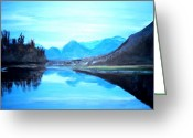 Teresa Dominici Greeting Cards - Hatzic Lake Reflections Greeting Card by Teresa Dominici