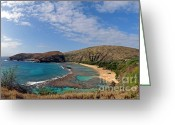 Bathe Greeting Cards - Hauanama Bay Point Greeting Card by Jim Chamberlain