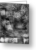 Haunted Greeting Cards - Haunted - Abandoned Greeting Card by Mike Savad