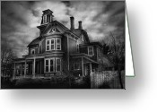 Motel Greeting Cards - Haunted - Flemington NJ - Spooky Town Greeting Card by Mike Savad