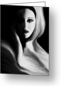 Ghostly Greeting Cards - Haunted - Self Portrait Greeting Card by Jaeda DeWalt