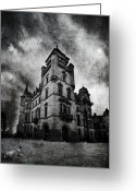 Scary Mansion Greeting Cards - Haunted 2 Greeting Card by Laura Melis