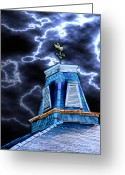 Weathervane Greeting Cards - Haunted House Greeting Card by Brooke Connor