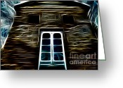 "\\\""haunted House\\\\\\\"" Greeting Cards - Haunted House Greeting Card by Cheryl Young"