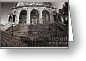 Landmarks Greeting Cards - Haunted House Greeting Card by Joan Carroll