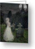 Churchyard Greeting Cards - Haunting Greeting Card by Christopher Elwell and Amanda Haselock
