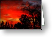 Gloaming Greeting Cards - Haunting Sunset Greeting Card by Dean Leh