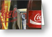 Photorealism Greeting Cards - Have a Coke... Greeting Card by Rob De Vries