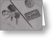 Keys Drawings Greeting Cards - Have You Seen my Keys Greeting Card by Lindsey Hopkins