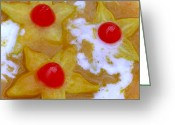 James Temple Greeting Cards - Hawaiian Star Fruit In Mango Orange Sauce Greeting Card by James Temple