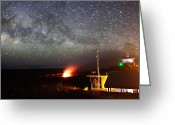 Observatories Greeting Cards - Hawaiian Volcano Observatory Monitors Greeting Card by Steve And Donna O