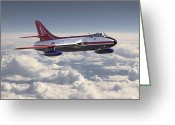 Raf Digital Art Greeting Cards - Hawker Hunter Greeting Card by Pat Speirs