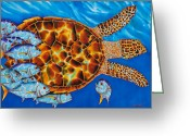 Reef Fish Greeting Cards - HaWKSBILL - JACKS  Greeting Card by Daniel Jean-Baptiste