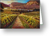 Mountain Vineyards Greeting Cards - Hawthorn Mountain Vineyards  Greeting Card by Santo De Vita