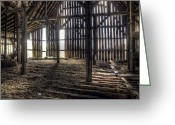 Ceiling Greeting Cards - Hay Loft 2 Greeting Card by Scott Norris