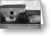 Round Barn Greeting Cards - Hay Lofted Barn Greeting Card by Jan Faul