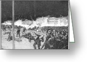Martyrs Greeting Cards - Haymarket Riot, 1886 Greeting Card by Granger