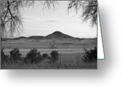 Colorado Mountain Prints Greeting Cards - Haystack Mountain - Boulder County Colorado - Black and White Ev Greeting Card by James Bo Insogna