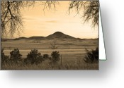 Colorado Photographers Greeting Cards - Haystack Mountain - Boulder County Colorado - Sepia Evening Greeting Card by James Bo Insogna