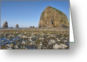 Haystack Framed Prints Greeting Cards - Haystack Rock 2 Greeting Card by Mauro Celotti