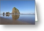 Haystack Framed Prints Greeting Cards - Haystack Rock 3 Greeting Card by Mauro Celotti